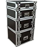 Musician's Gear Rack Flight Case 4 Spaces Black