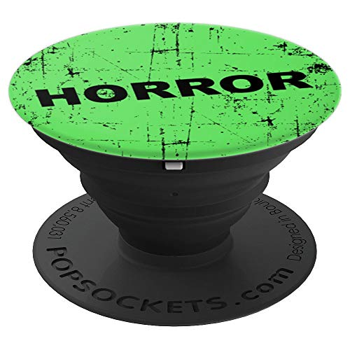Distressed Horror Movie Green VHS Rental Gift Movie Lovers - PopSockets Grip and Stand for Phones and Tablets -