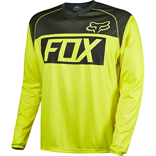 Mens Indicator (Fox Racing Indicator Jersey - Long Sleeve - Men's Flo Yellow, L)