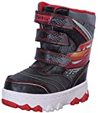 Josmo Cars Lightning McQueen Boy's Snow Boots with Velcro Straps Closure, Black/Red, 9 M US Toddler'