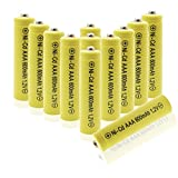 Geilienergy 12 Piece Yellow Color Triple A AAA Size NiCd 600mAh 1.2V Rechargeable Battery For Solar Lamp Solar light