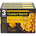 Cracker Barrel Macaroni and Cheese, Sharp Cheddar, 3 Count, 42 Ounce