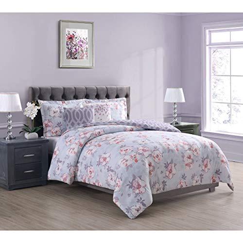 (Boho Living Penelope Comforter Set, King, Grey )