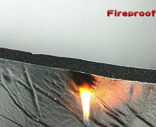 hood-liner-55-x-32-x-3-5-thick-fireproof-self-adhesive-automotive-insulation-foam-aluminum-foil-face