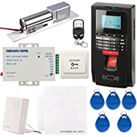 UHPPOTE Full Complete Fingerprint EM-ID Access Control System Kit Time Attandance TCP IP RS485 /Electirc Bolt Lock