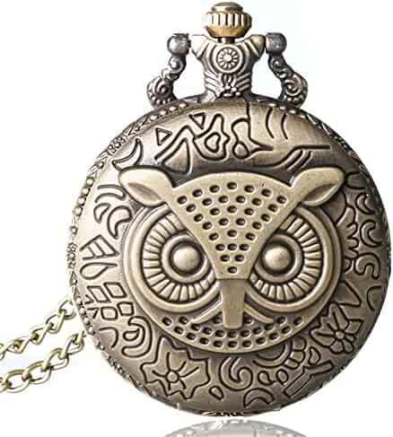 Cute Owl Pocket Watch, 3D Animal Design, Lovely Gifts for Boys Girls