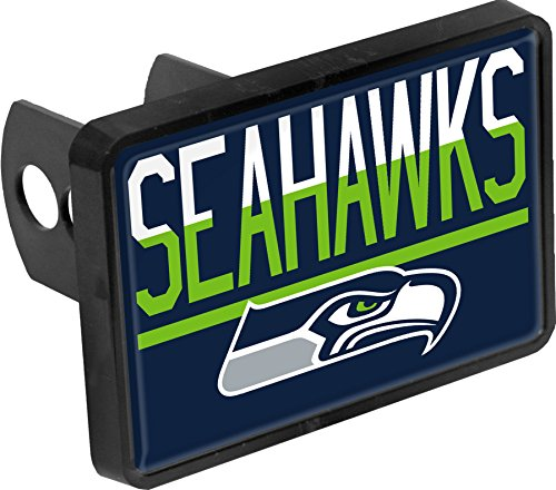 - Seattle Seahawks Color Duo Tone Universal HITCH Bumper Trailer Auto Cap Cover Football