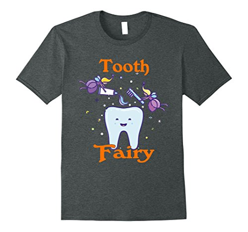 Dark Fairy Halloween Perfect (Mens Tooth Fairy Halloween Costume T-shirt for Women and Girls Small Dark Heather)