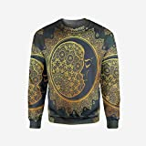 iPrint Mens Watercolor Pullover Sweater