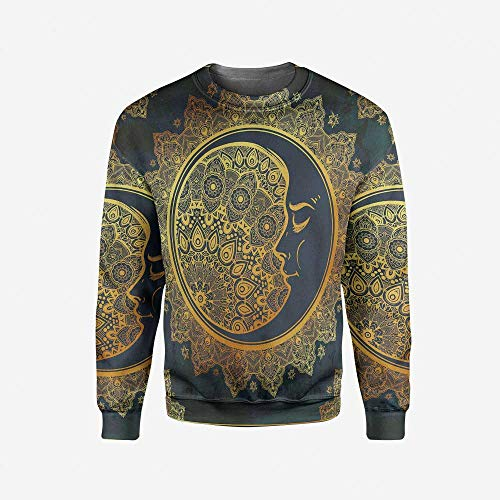 iPrint Mens Watercolor Pullover Sweater by iPrint
