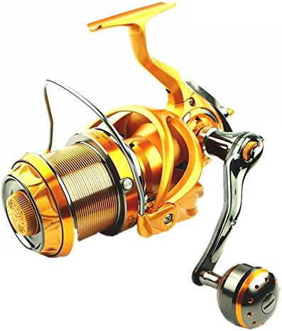 スピニングリール 塩水または淡水のための二重抗力ブレーキシステム巻き枠が付いている回転釣巻き枠軸受け左右の交換可能なハンドル ファミリーフィッシング (サイズ : 8000)
