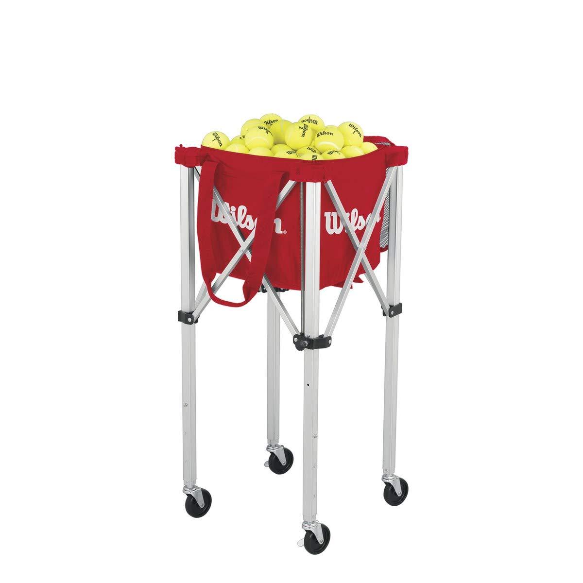 Wilson Ballwagen, Tennis Teaching Cart, für bis zu 150 Bälle, rot, WRZ541000 AMWI5|#Wilson