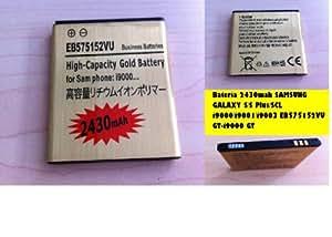Batería de larga duración 2430mah para SAMSUNG GALAXY S / S Plus / SCL i9000 / i9001 / i9003 EB575152VU GT-i9000 GT