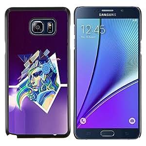 Stuss Case / Funda Carcasa protectora - Arte abstracto de Pop neón Mujer - Samsung Galaxy Note 5 5th N9200