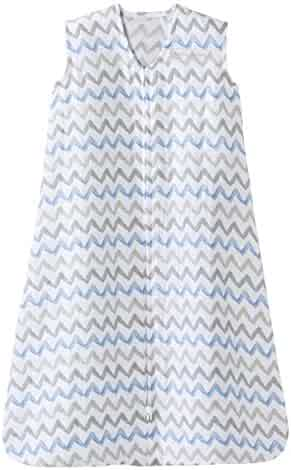 Halo 100% Cotton Muslin Sleep Sack Wearable Blanket, Chevron Taupe, X-Large