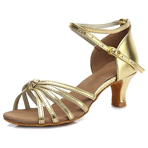 Zapatillas Modelo estándar de baile para Oro Tacón SWDZM de D217 latino Salón 5cm baile baile mujer Zapatillas de zqxXHYO