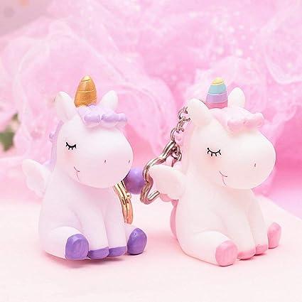 Amazon.com: Aibote - Llavero con diseño de unicornios con ...