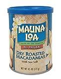 Mauna Loa Macadamias Dry Roasted with Sea Salt, 4.5 Ounce Can (2 Cans)