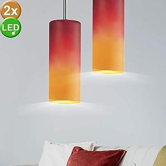 Design Decken Hänge Leuchte Ess Zimmer Pendel Strahler Lampe Keramik Orange