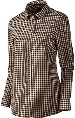 Harkila Selja Lady L/S Cuadros Camisa Puerto Brillo Cuadros - Marron, Small: Amazon.es: Deportes y aire libre