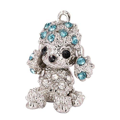 Creative DIY Crystal Poodle Charms Pendants Wholesale (Set of 3) MH219