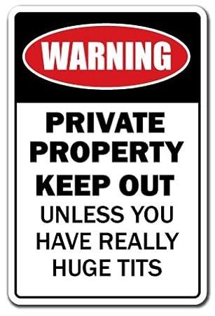 Sinluen Divertido Cartel de Regalo de Propiedad Privada ...