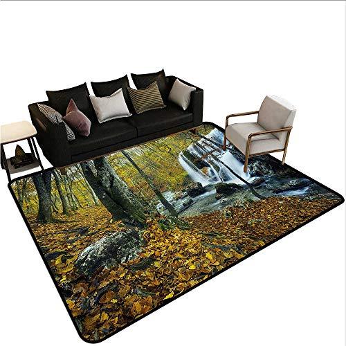 Waterfall,Long Kitchen Mat Bath Carpet 80