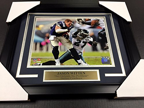 - JASON WITTEN NO HELMET NO PROBLEM DALLAS COWBOYS 8X10 UNSIGNED Photo Framed