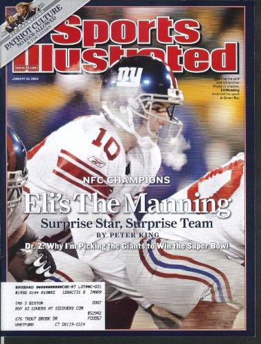 SPORTS ILLUSTRATED Eli Manning Tom Brady Matt Light Football 1/28 2008