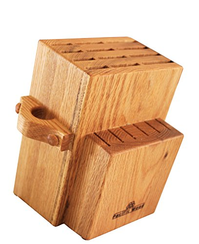 Universal Knife Block Stand Holder Without Knives, 2 Tiers Large Storage, Hold Up To 18 Large and Small Cutlery With a Unique Slot For Scissors. Handmade In The USA From - 12 Stores In Oaks Mall