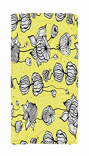 Shorping Travel Towel Large,Abstract Flower Floral Pattern with Drawn Ornament Can Be Used Background Textile Phone 30x60 Inch Large Pool Towels for Body Bath,Swimming,Travel,Camping,Sport
