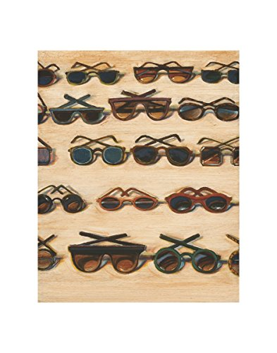 Five Rows of Sunglasses, 2000 by Wayne Thiebaud Painting - 2000 Sunglasses