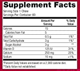 Bariatric Advantage - 250mg Calcium Citrate Chewy Bite - Caramel, 60 count