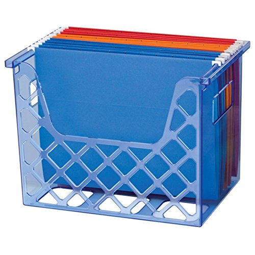 (Officemate OIC Blue Glacier Desktop File Organizer, Transparent Blue (23221))