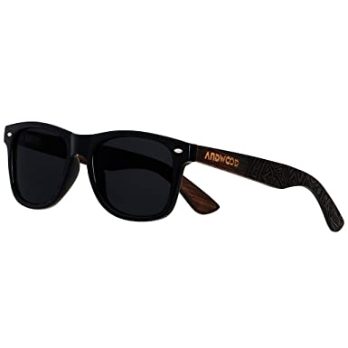 99599c6cb19d Wooden Sunglasses For Men Women - Wood Bamboo Frame ANDWOOD Eyewear Vintage  Floating Polarized Sunglass Athletic