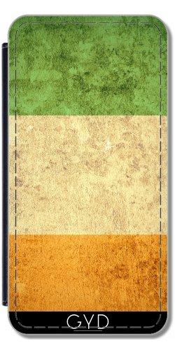 Leder Flip Case Tasche Hülle für Apple iPhone 6 Plus / 6S Plus - Irland Grunge-Flagge by Warp9