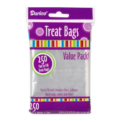 10,000 Candy Treat Bags Wedding Favors 4.75'' X 3'' Clear by Darice