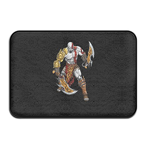 God Of War Game Doormat And Dog Mat ,40cm 60cm Non-slip Doormats,Suitable For Indoor Outdoor Bathroom Kitchen Doormat And Pets (Cape Cod Braided Rugs)