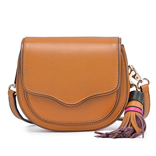 Lightweight Tassel Bag Crossbody Mini with brown THqT4w