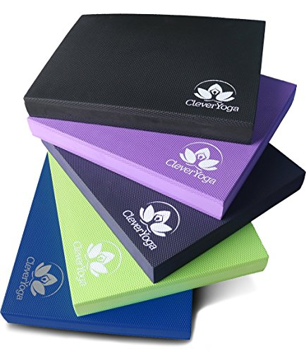 Clever Yoga Balance Pads for Physical Therapy Foam Pad of Versatile Fitness, Rehab Tool, Kneeling Pad Or Standing...