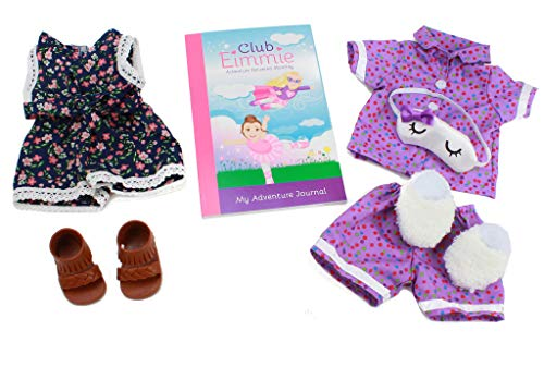 Club Eimmie 18 Inch Doll Clothing Playtime Packs - Doll Accessories, Doll Shoes, and Doll Clothes - Trendy Romper Doll Outfit -