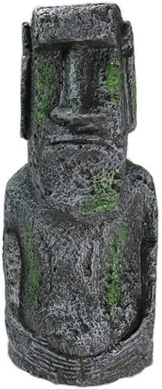 Isla De Pascua Estatua De Piedra L Tama?o Decoración Del Acuario Ahu Akivi Moai Monolito Estatua Del Acuario Ornamento Casa Y Jardín: Amazon.es: Hogar