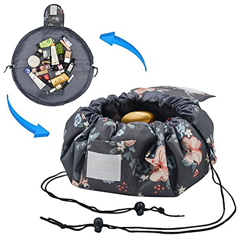 Adigow Lazy Drawstring Makeup Bag Magic Cosmetic Organizer Pouch Waterproof Travel Toiletry Bags For Womens