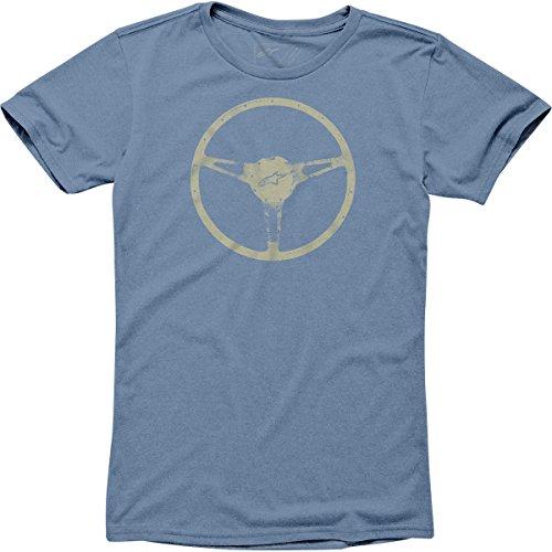 Alpinestars Mens Teak Short-Sleeve Shirt, Blue Heather, Medium