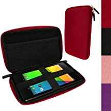iGadgitz Red EVA Travel Hard Case Cover Sleeve for New Google Nexus 7 FHD Android Tablet 16GB 32GB 4G LTE 2013 Model 2nd Gen Generation (released Aug 2013)