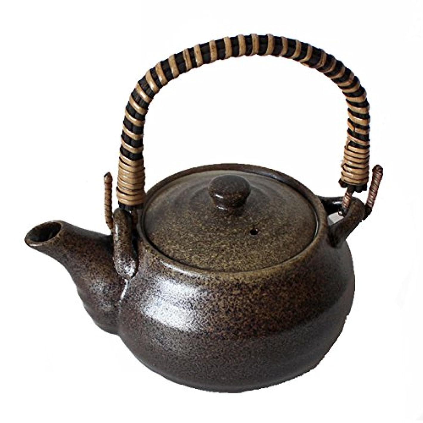 請求可能努力順応性土瓶 8号 1500cc 三色ライン 十草 大 大きい 急須 茶こし付 業務用 陶器 食器 法事 来客用 おしゃれ つる付 ラッピング不可