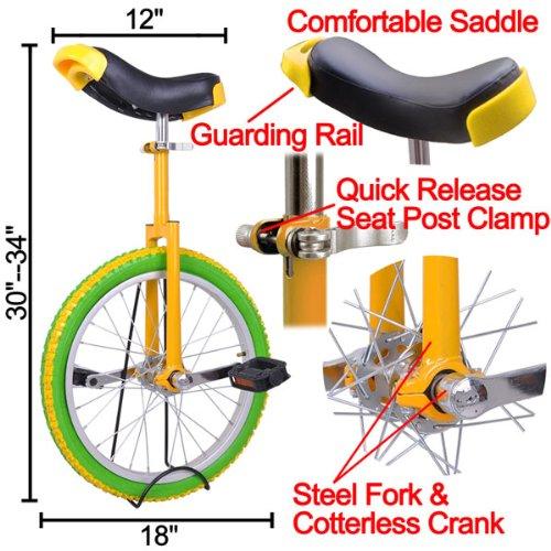 18 Inch Wheel Unicycle (Lemon)