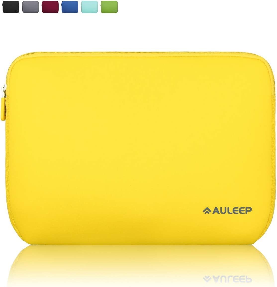 AULEEP 13-14 Inch Laptop Sleeves, Neoprene Notebook Computer Pocket Tablet Carrying Sleeve/Water-Resistant Compatible Laptop Sleeve for Acer/Asus/Dell/Lenovo/HP, Yellow