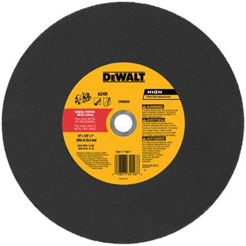 DEWALT DW8020 Metal Port Saw Cut-Off Wheel, 14-Inch X 1/8-Inch X (Dewalt Abrasive Blade)