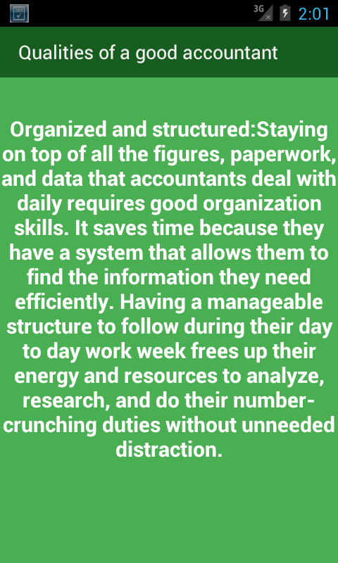 qualities of a good accountant